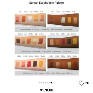 Natasha Denona Makeup - Natasha Denona Sunset Eyeshadow Palette